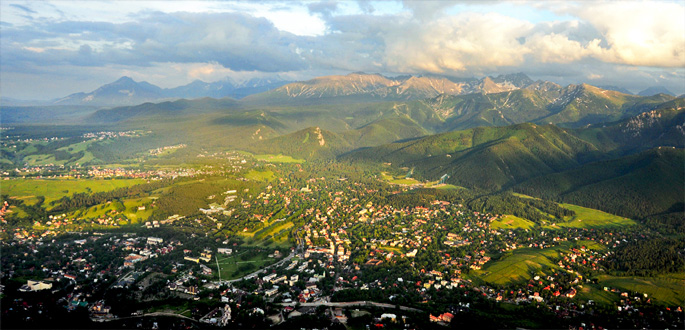 Ville dans les Tatras